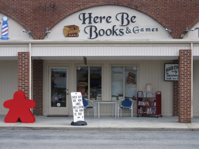 Here Be Books & Games store front