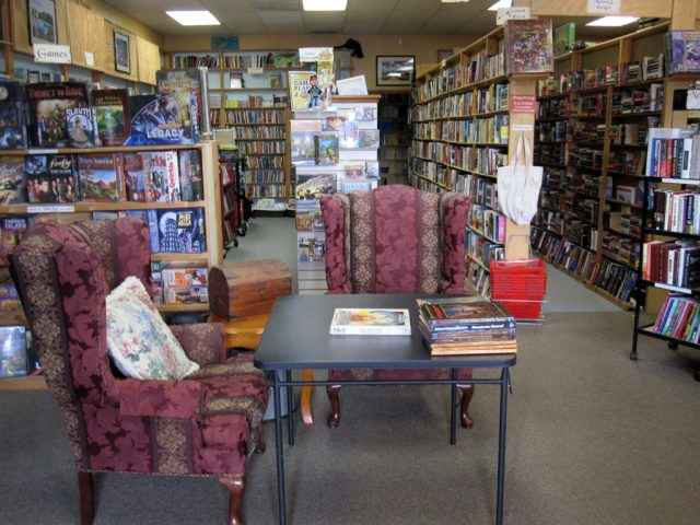 Front Area of Here Be Books & Games