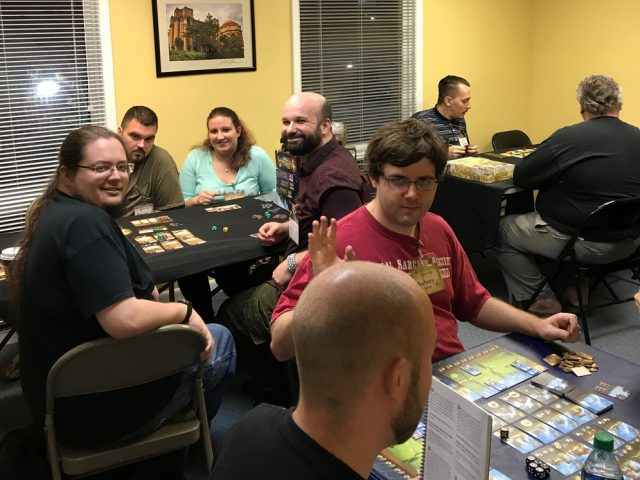 Gaming in the Dragon Room on Game Night