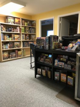 Here Be Books & Games reception area