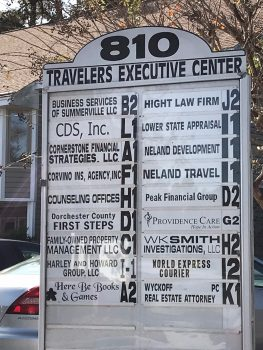 Travelers Executive Center Entrance Sign