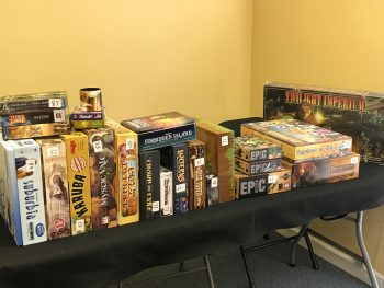More games that will be in our Game Auction, April 27 from 6 to 11pm at Here Be Books & Games