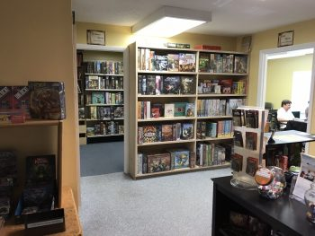 Interior of Here Be Books & Games