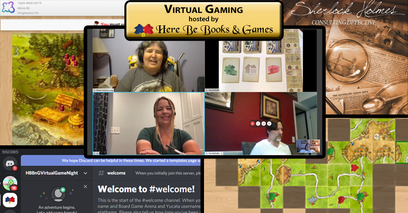 Virtual Gaming hosted by Here Be Books & Games