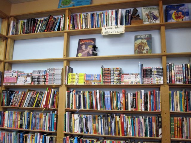 Young Adult section – Manga on top